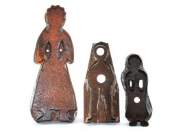Woman, boy and girl vintage gingerbread cutters from Alsace.