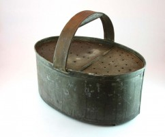 A well loved vintage french bait holder.