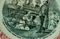 The fine detail in the centre of the La Crinoline scene, one of a series in the vintage transferware.