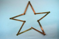 A Christmas star shape from the folding ruler.
