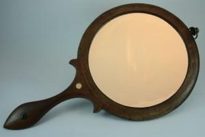 Vintage Shaker treen hand mirror