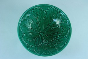 It  is a beautiful intense green on this vintage majolica bowl