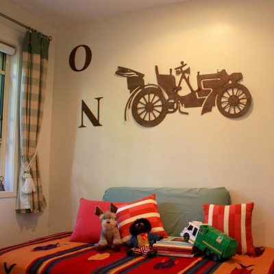 Dress up a room with metal letters.