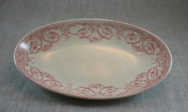 Creil & Montereau vintage oval plate