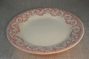 Creil & Montereau transferware dinner plate