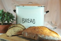 Vintage Enamel bread tin