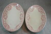 Creil & Montereau vintage oval plates