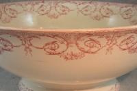 Creil & Montereau transferware salad bowl