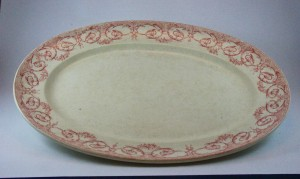 Creil & Montereau meat plate