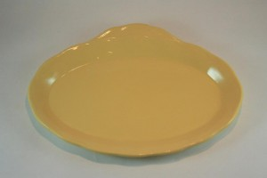 Laburnum (buttery yellow) Petal sandwich saucer from Grindley