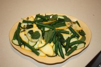 Matching yellow and green in a squash salad on Laburnum Petal saucer.