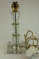 Art deco glass lamp base