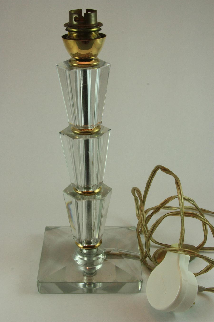 Vintage Art Deco Glass Lamp Base Maddie And Marie