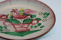 French antique Rooster Saucer