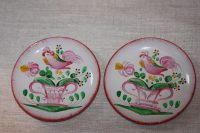 French antique ceramic rooster plates